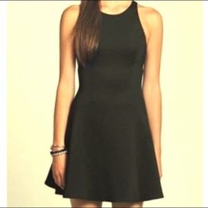 Hollister | Black Faux Leather Bottom Dress